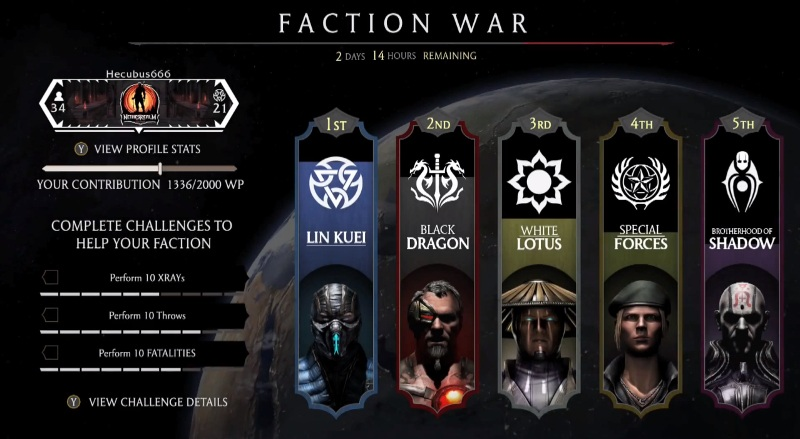 MK X - Faction War