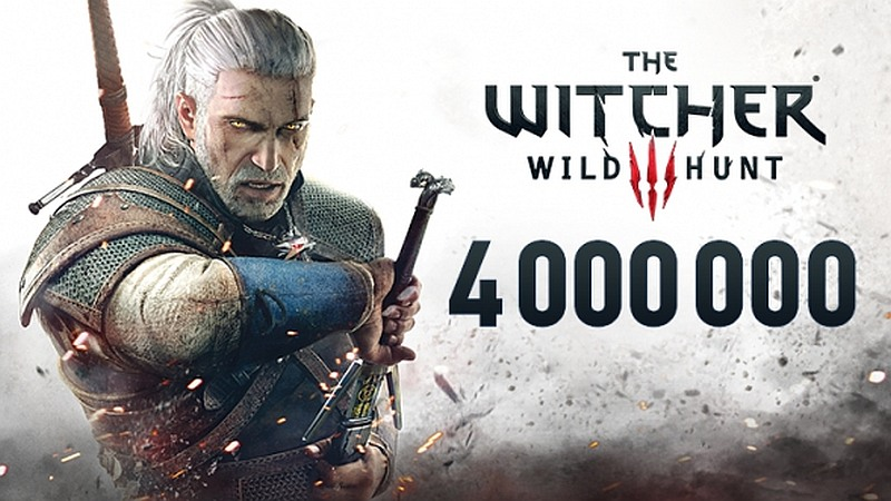The Witcher 3 4mln copies